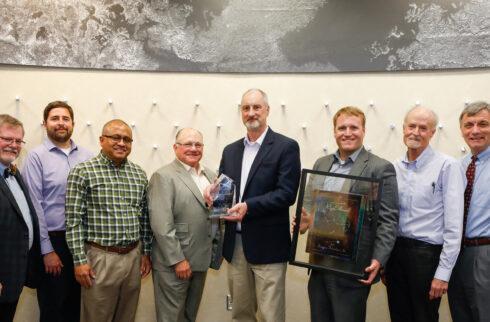 DTI accepting Rigel Award 2018